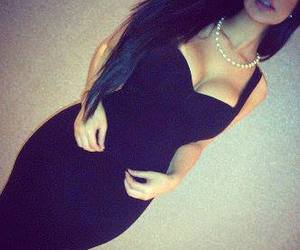 dress, sexy, and black image