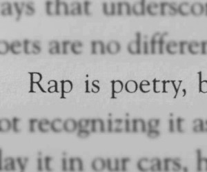 rap, poetry, and music image