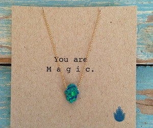 magic, necklace, and blue image