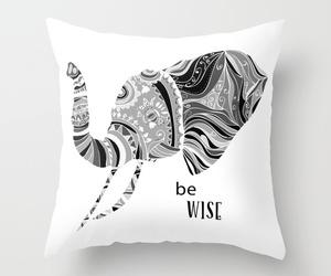 black, boho, and elephant image