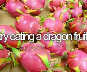 bucket list, dragon fruit, and food image
