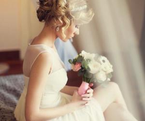 beautiful, bridal, and dress image