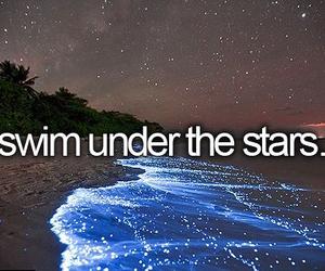 stars, sea, and swim image