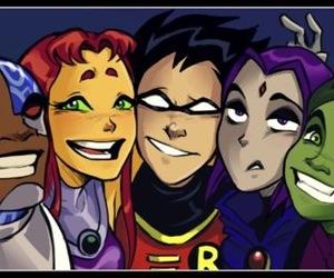 cyborg, raven, and robin image