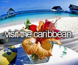 Caribbean, bucket list, and beach image