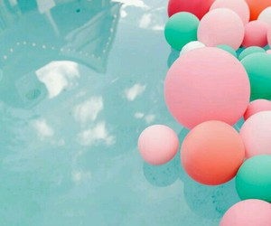 balloons, party, and pool image