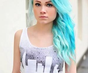 girl, hair color, and bleu clair image