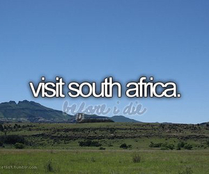 south africa, travel, and visit image