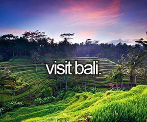 bali, travel, and bucket list image