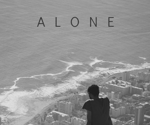 alone, black, and black and white image
