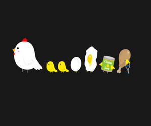 Chicken, wallpaper, and egg image