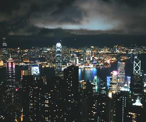 city, night, and lights image