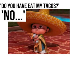 food, funny, and dispicable me image