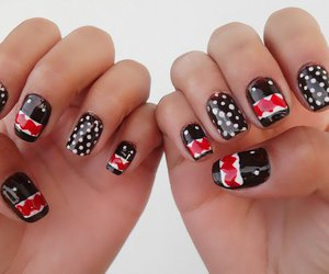 nails, cute, and domo image