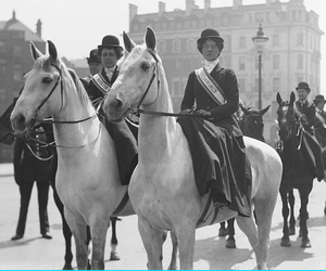 horse, women, and suffragettes image