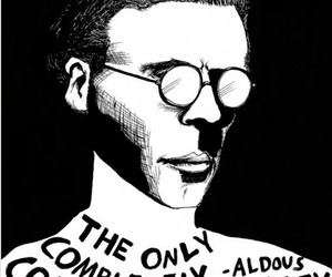 aldous huxley, author, and black and white image