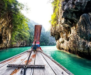 boat, explore, and nature image