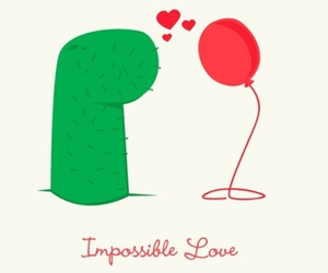 love, impossible, and cactus image