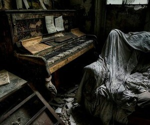 piano and abandoned image