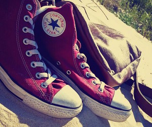 all star, beach, and converse image