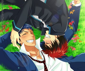 smile, aokaga, and kagami image