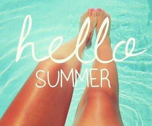 beach, bikini, and hello image