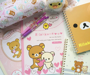rilakkuma, kawaii, and pen image