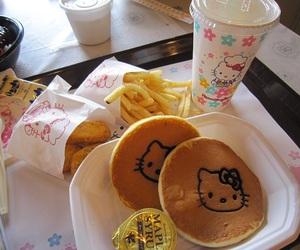 food, hello kitty, and pancakes image