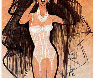 dior, french, and lingerie image