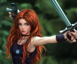 girl and sword image