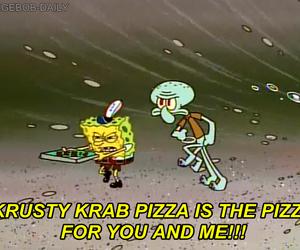 pizza and spongebob image