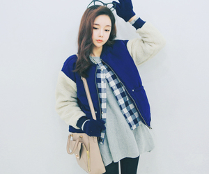 asian fashion, blue, and clothes image