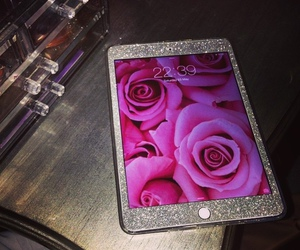 ipad, apple, and roses image