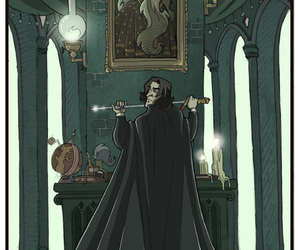 severus snape, albus dumbledore, and fan art image