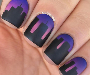 nails, black, and city image