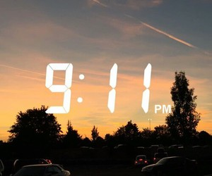 sky, sunset, and snapchat image