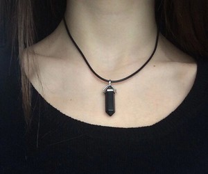 black, grunge, and necklace image
