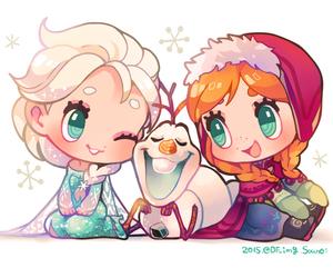 frozen, kawaii, and princess image