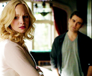 paul wesley, the vampire diaries, and caroline forbes image