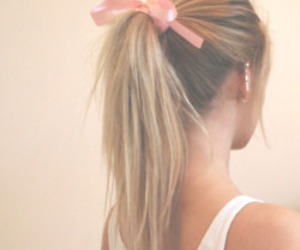 blonde, ear, and pink image