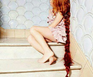 little girl, photography, and long hair image