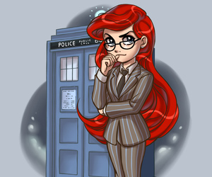 disney, ariel, and doctor who image