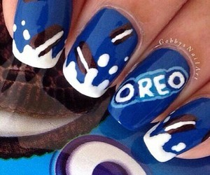 oreo, nails, and blue image