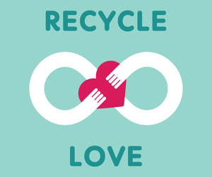 love and recycle image