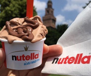 chocolate, desserts, and nutella image