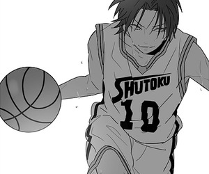 Basketball, anime boy, and cool image