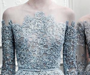 dress, blue, and elie saab image