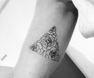 tattoo, rose, and triangle image