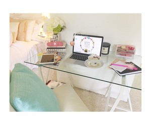 desk, inspiration, and pink image