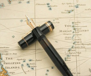 1950, fountain pen, and map image